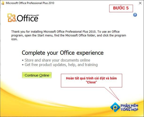 Office 2010 download step 5