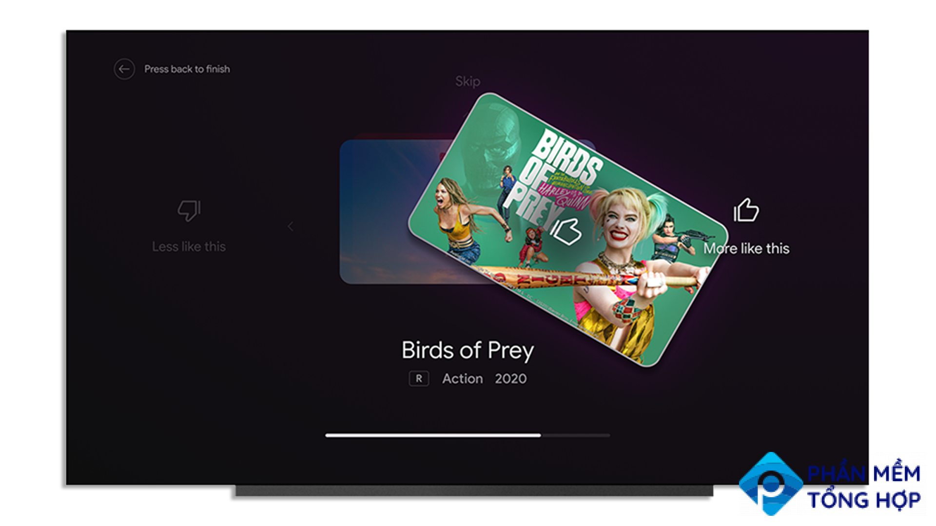 Android TV's new Improve Your Recommendations features.