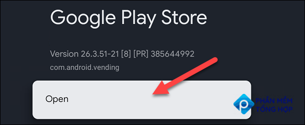 """Now select """"Open"""" and the full Play Store will launch."""