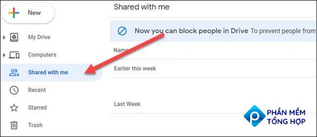 """Go to the """"Shared With Me"""" tab."""