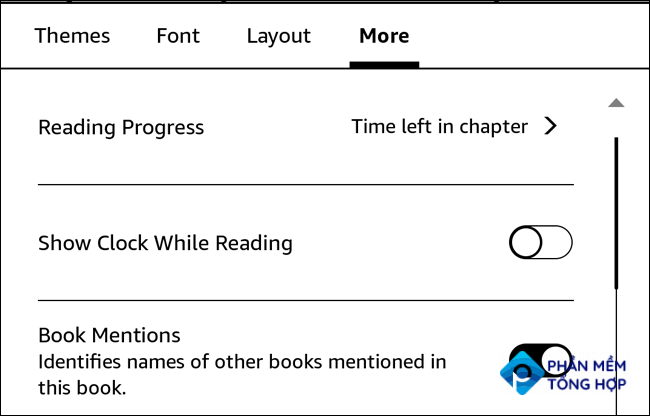 More text options for Kindle