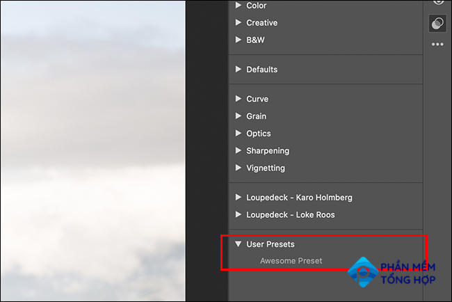 Choose a preset to apply