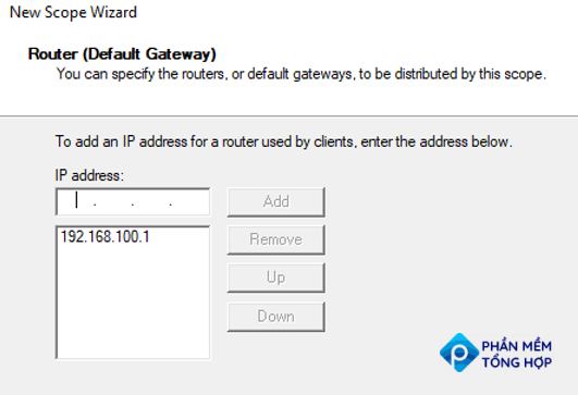 add router (default gateway) in DHCP scope