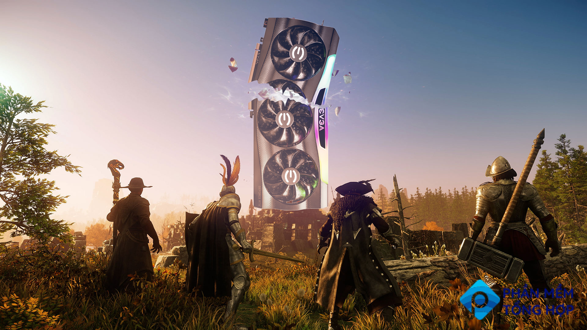 Amazon's New World MMO with a broken EVGA RTX 3090 graphics card.
