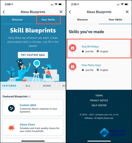 Go to Blueprints and pick Your Skills