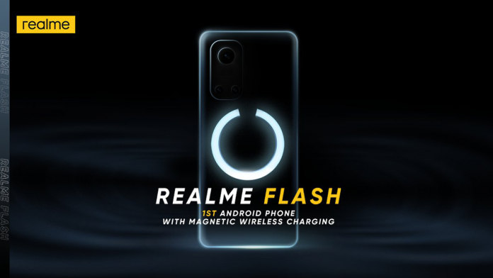 Teaser of Realme's new flagship phone, the Flash