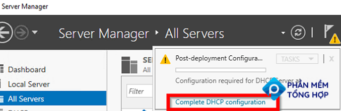 Complete DHCP configuration Post-Deployment