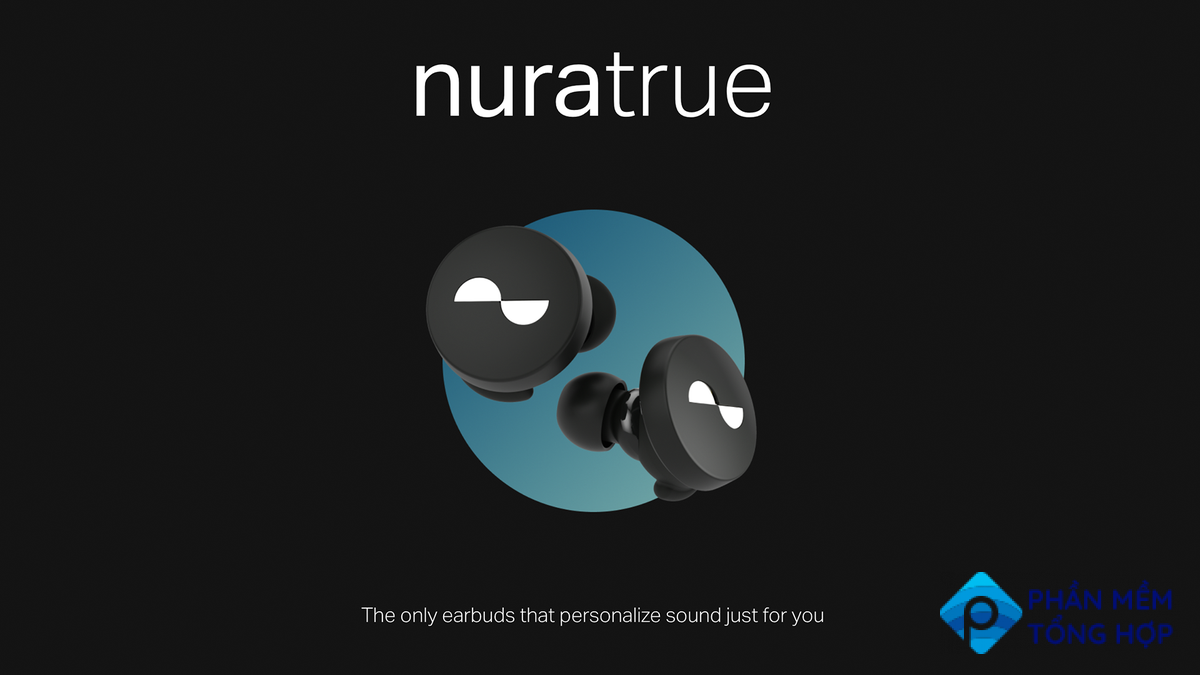 A photo of the Nuratrue earbuds.