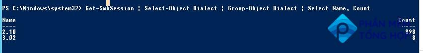 Get-SmbSession used Dialect versions