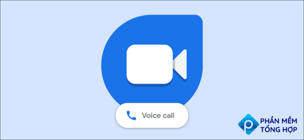 google duo logo with voice call buitton