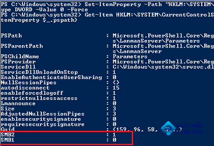 How to disable SMB 1 on Windows 7 via registry?