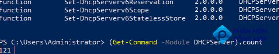 list on command in DHCPServer PowerShell module