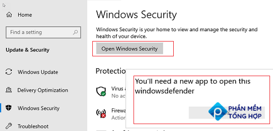 Microsoft Defender error on WIndows Server - You'll need a new app to open this windowsdefender
