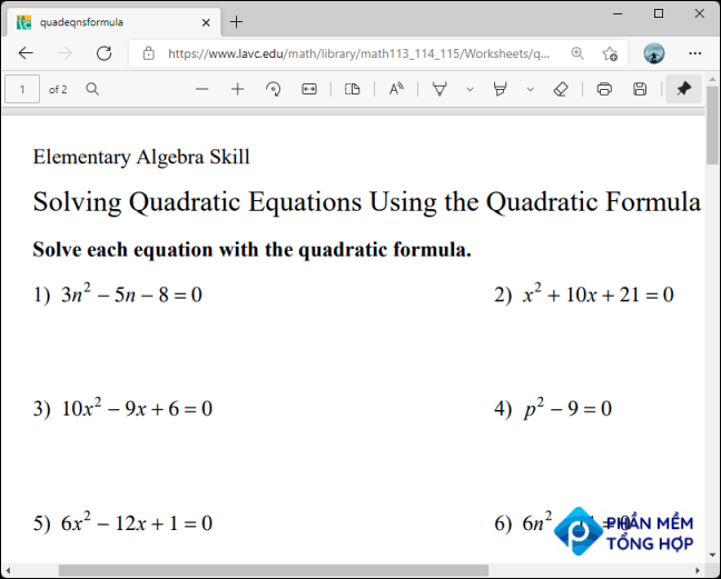 Open the site or online document with the math problems that you want to solve.