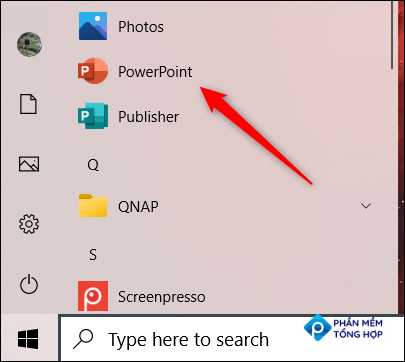 Right-click the app in the Start menu.