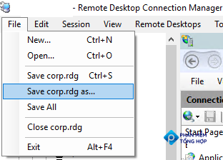 save rdp connection rdg file