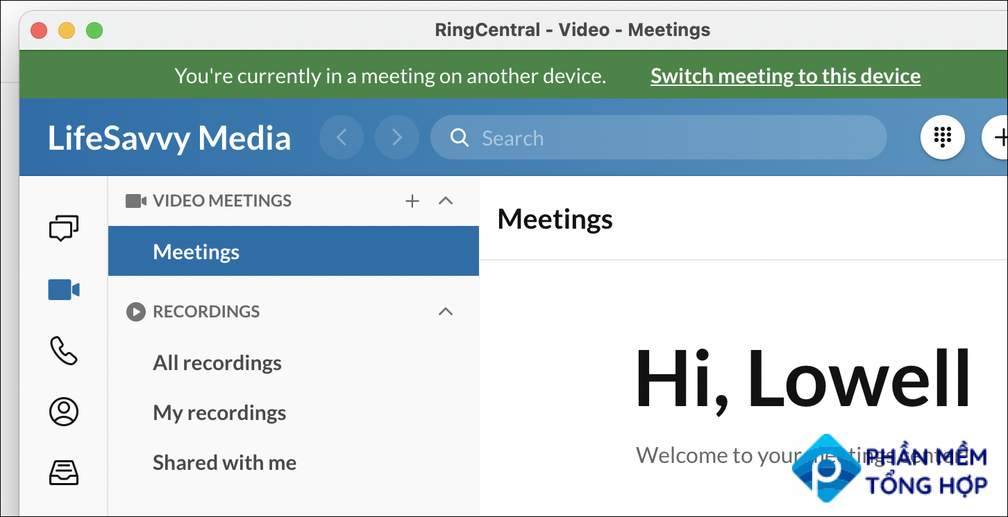 RingCentral smart switch
