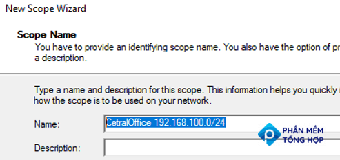 set dhcp scope name