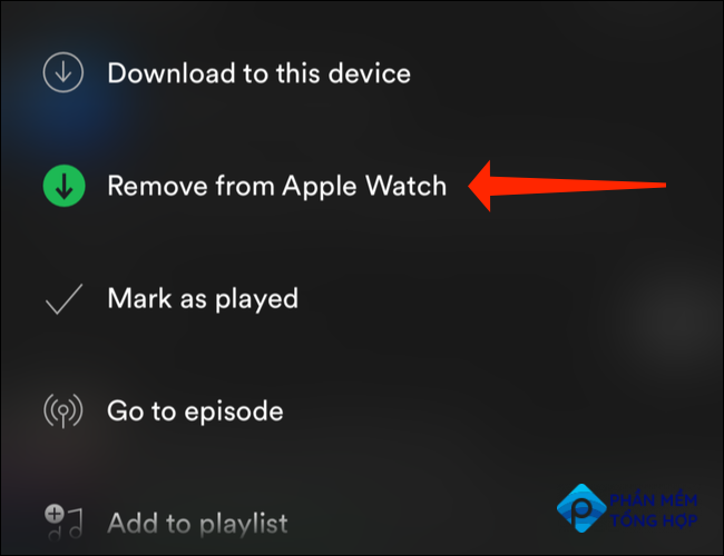 """Tap """"Remove from Apple Watch"""""""
