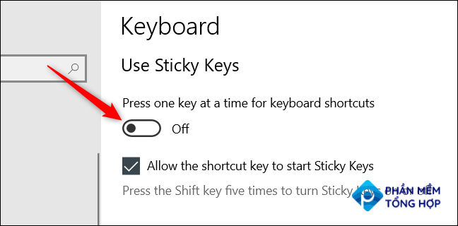 """Toggle the """"Press one key at a time for keyboard shortcuts"""" to the Off position."""
