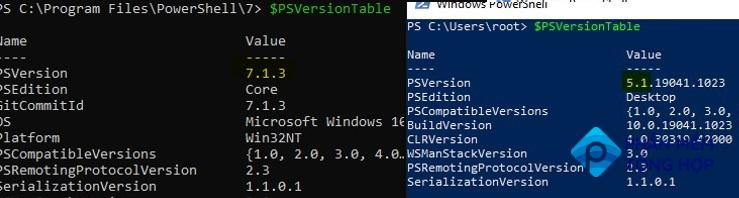 two powershell verions on window 10