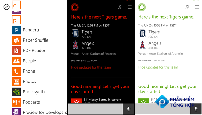 Windows Phone apps with colors.