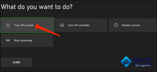 With the Energy-Saving power mode enabled, long-press the Xbox button on your controller to bring up the