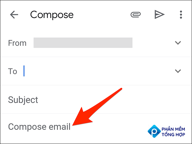 """Tap and hold the """"Compose email"""" box in the Gmail app."""