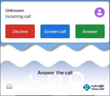 Google Assistant answer the call.