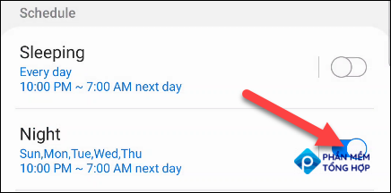 Turn Schedules on or off.