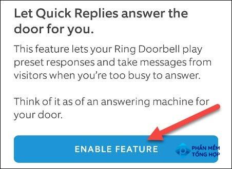 """Tap """"Enable Feature"""" to proceed."""