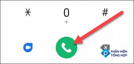 Enter the number and tap the green phone button to place the call.