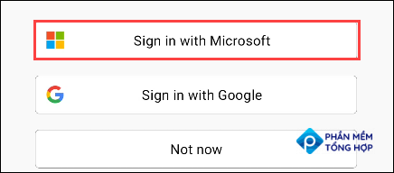 Sign in with your Microsoft account.