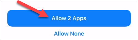 """Tap """"Allow Apps."""""""