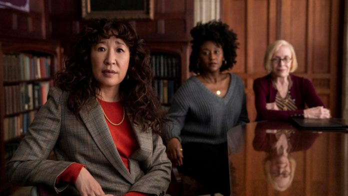 Sandra Oh and two co-stars in a scene from