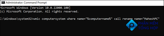 Change Windows 11's PC name from Command Prompt.