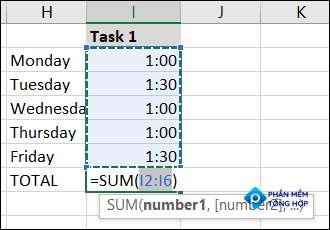 Select the cells for the formula