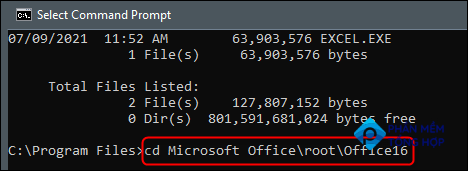Change to the directory that contains the excel file.