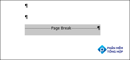 Click and drag your cursor over the break to select it.