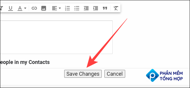 """Select the """"Save Changes"""" button at the bottom."""