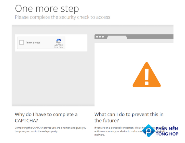 Captcha Screen Cloudflare One More Step