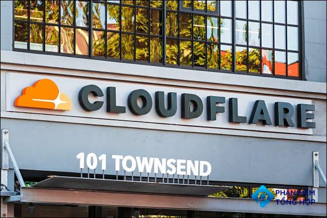 Cloudflare's office front.