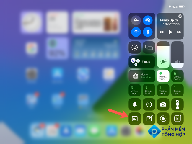 Tap Quick Note in Control Center
