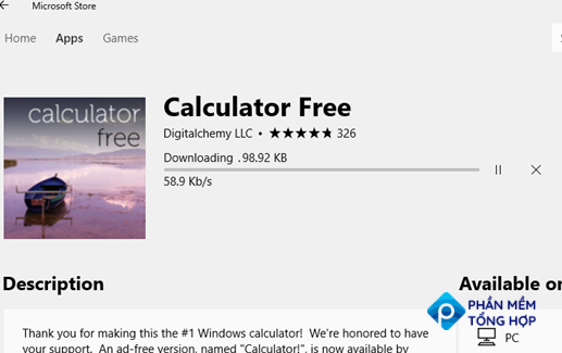 downloading app from microsoft store