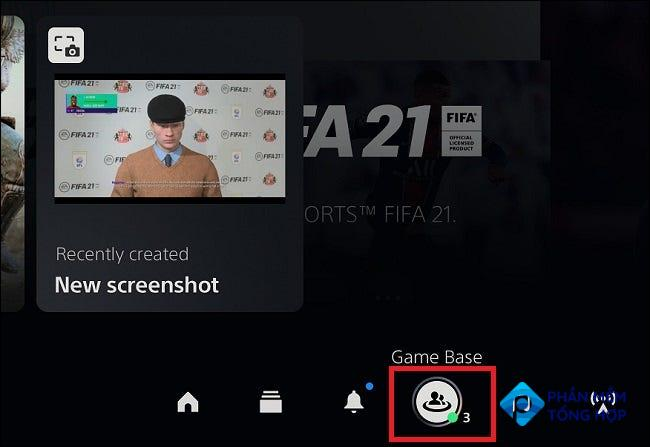 """Select """"Game Base"""" on PS5."""
