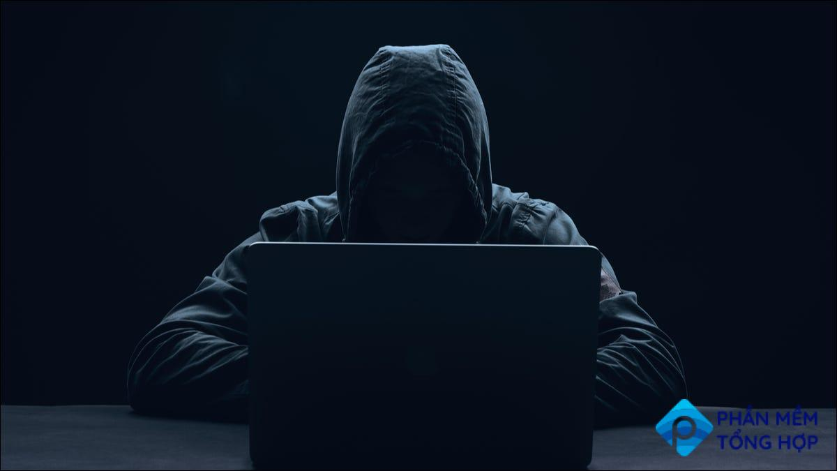 Hacker with a laptop
