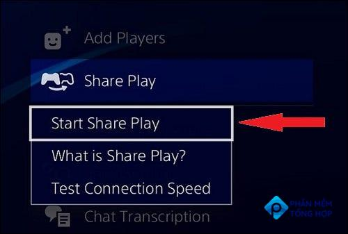 """Select """"Start Share Play."""""""