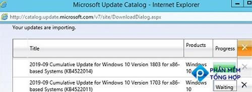 importing updates into wsus on windows server