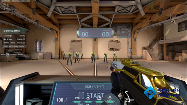 First Person Shooters likely have training or practice modes