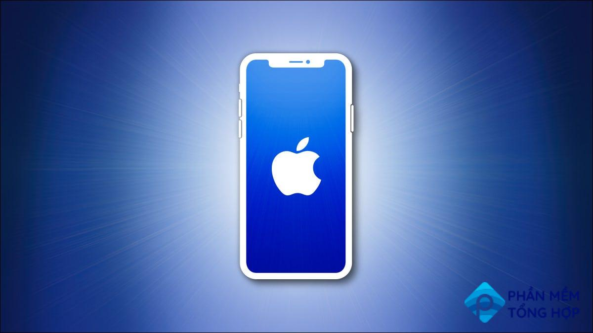 iPhone outline with blue screen on a blue background hero